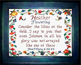 Name Blessings - Heather | Crafting | Cross-Stitch | Religious