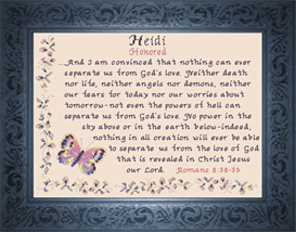 Name Blessings - Heidi | Crafting | Cross-Stitch | Religious