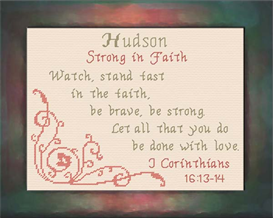 Name Blessings - Hudson | Crafting | Cross-Stitch | Religious