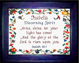Name Blessings - Isabella - Chart | Crafting | Cross-Stitch | Religious