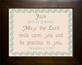 Name Blessing - Jack | Crafting | Cross-Stitch | Wall Hangings