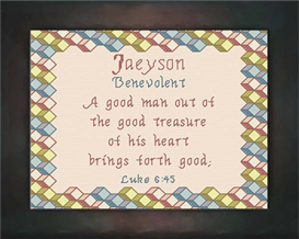 Name Blessing - Jaeyson | Crafting | Cross-Stitch | Other