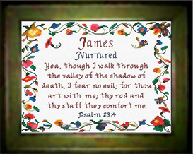 Name Blessings - James - Chart | Crafting | Cross-Stitch | Religious