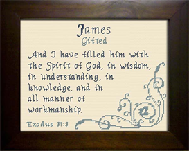 Name Blessing - James 2 | Crafting | Cross-Stitch | Other