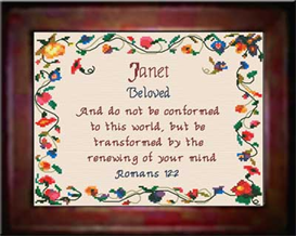 Name Blessings - Janet - Chart | Crafting | Cross-Stitch | Other