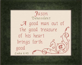 Name Blessings - Jason2 | Crafting | Cross-Stitch | Religious