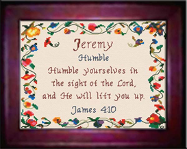 Name Blessings - Jeremy - Chart | Crafting | Cross-Stitch | Religious