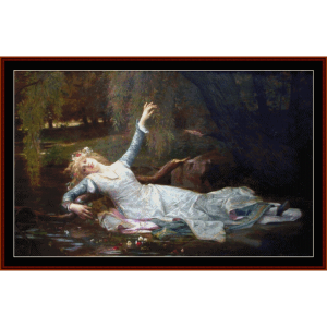 Death of Ophelia - Millaiscross stitch pattern by Cross Stitch Collectibles | Crafting | Cross-Stitch | Wall Hangings