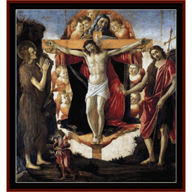 Holy Trinity- Botticelli cross stitch pattern by Cross Stitch Collectibles | Crafting | Cross-Stitch | Wall Hangings