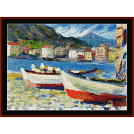 Rapallo, Boats - Kandinsky cross stitch pattern by Cross Stitch Collectibles | Crafting | Cross-Stitch | Wall Hangings