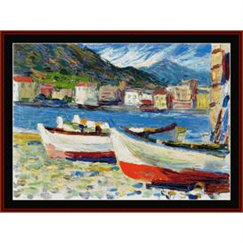 Rapallo, Boats - Kandinsky cross stitch pattern by Cross Stitch Collectibles | Crafting | Cross-Stitch | Wall Hangings