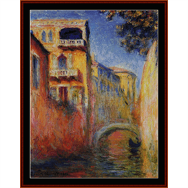rio della salute - monet cross stitch pattern by cross stitch collectibles