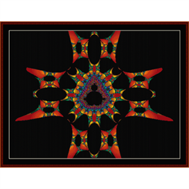 Fractal 334 cross stitch pattern by Cross Stitch Collectibles | Crafting | Cross-Stitch | Wall Hangings