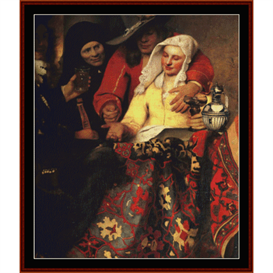 The Procuress, Detail - Vermeer cross stitch pattern by Cross Stitch Collectibles | Crafting | Cross-Stitch | Other