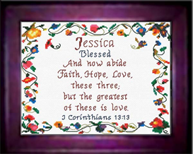 Name Blessings - Jessica - Chart | Crafting | Cross-Stitch | Other
