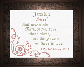 Name Blessings - Jessica2 | Crafting | Cross-Stitch | Religious