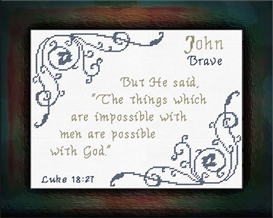 Name Blessings - John | Crafting | Cross-Stitch | Other