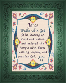 Name Blessings - Jorge | Crafting | Cross-Stitch | Religious