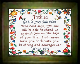 Name Blessings - Joshua - Chart | Crafting | Cross-Stitch | Other