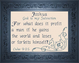 Name Blessings - Joshua | Crafting | Cross-Stitch | Religious