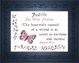 Name Blessing - Judith | Crafting | Cross-Stitch | Religious