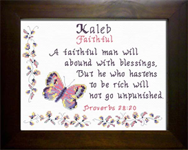 Name Blessings - Kaleb | Crafting | Cross-Stitch | Other