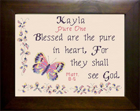 Name Blessings - Kayla | Crafting | Cross-Stitch | Religious