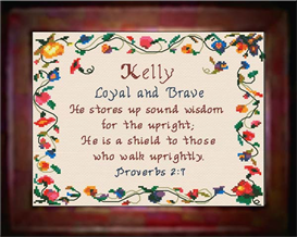 Name Blessings - Kelly - Chart | Crafting | Cross-Stitch | Religious