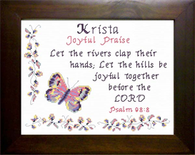 Name Blessing - Krista | Crafting | Cross-Stitch | Religious