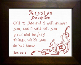 Name Blessings - Krystyn | Crafting | Cross-Stitch | Other