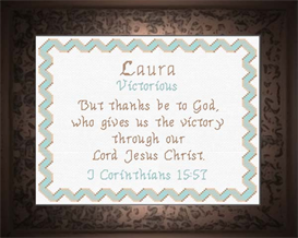 Name Blessings - Laura | Crafting | Cross-Stitch | Religious