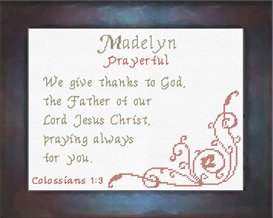 Name Blessings - Madelyn 2 | Crafting | Cross-Stitch | Religious