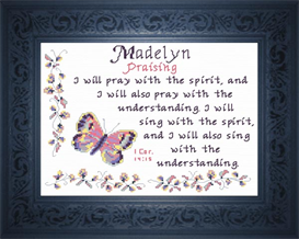 Name Blessing - Madelyn 3 | Crafting | Cross-Stitch | Religious