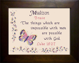 Name Blessing -Madison 2 | Crafting | Cross-Stitch | Religious