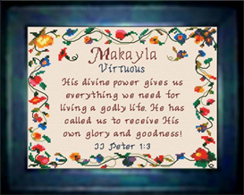 Name Blessings - Makayla | Crafting | Cross-Stitch | Other