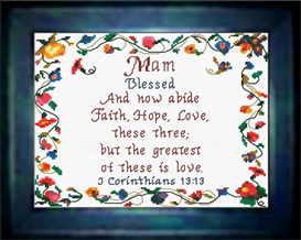 Name Blessings - Mam | Crafting | Cross-Stitch | Religious