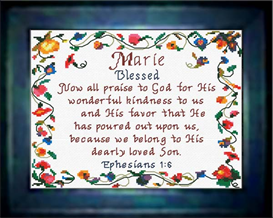 Name Blessings - Marie - Chart | Crafting | Cross-Stitch | Religious