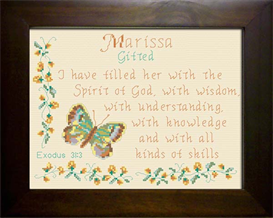 Name Blessing - Marissa | Crafting | Cross-Stitch | Religious