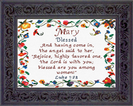 Name Blessings - Mary - Chart | Crafting | Cross-Stitch | Religious