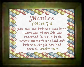 Name Blessings - Matthew - Chart | Crafting | Cross-Stitch | Religious