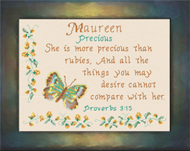 Name Blessings - Maureen | Crafting | Cross-Stitch | Religious