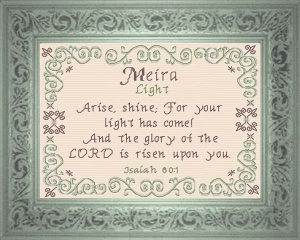 Name Blessing - Meira | Crafting | Cross-Stitch | Religious