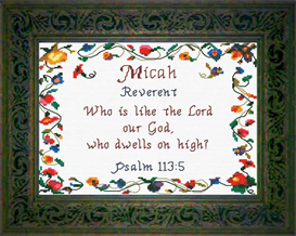Name Blessings - Micah | Crafting | Cross-Stitch | Religious