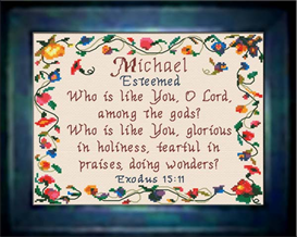 Name Blessings - Michael - Chart | Crafting | Cross-Stitch | Other
