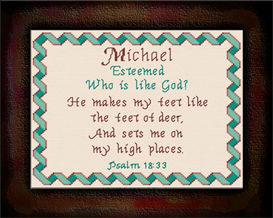Name Blessings - Michael2 | Crafting | Cross-Stitch | Other