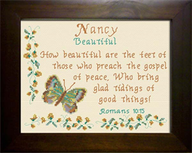 Name Blessing - Nancy | Crafting | Cross-Stitch | Religious
