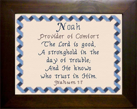 Name Blessings - Noah | Crafting | Cross-Stitch | Religious