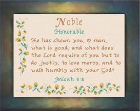Name Blessings - Noble | Crafting | Cross-Stitch | Religious