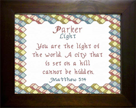 Name Blessing - Parker | Crafting | Cross-Stitch | Other