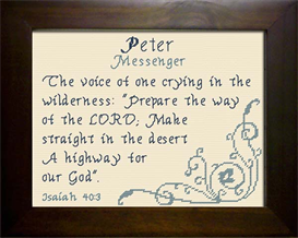 Name Blessing - Peter | Crafting | Cross-Stitch | Religious